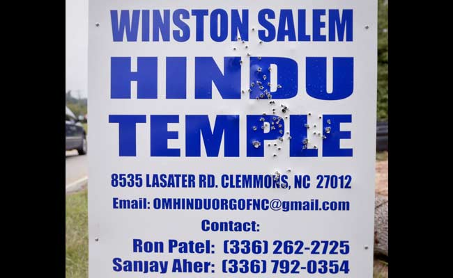 Temple Sign Hit With Over 60 Shotgun Blasts