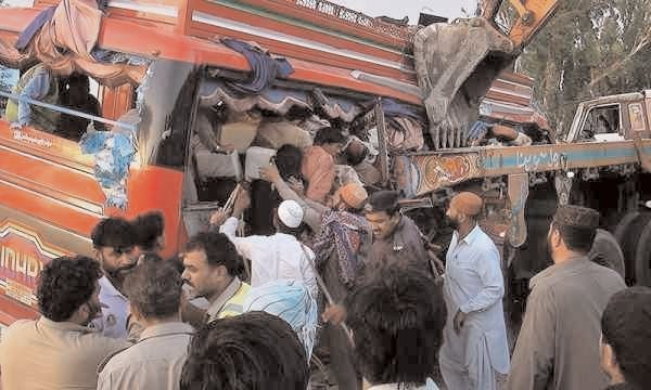 13 KILLED IN PAKISTAN ROAD ACCIDENTS
