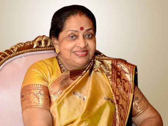 The late Smt. Suvra Mukherjee. -- Photo courtesy- Rashtrapati Bhavan