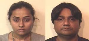 LEONIA POLICE DEPARTMENT Nikita Natvarlal Patel (left); Akash Satish Patel (right)