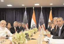 Prime Minister Narendra Modi holds bilateral talks with US President Barack Obama in New York - Photo courtesy PTI