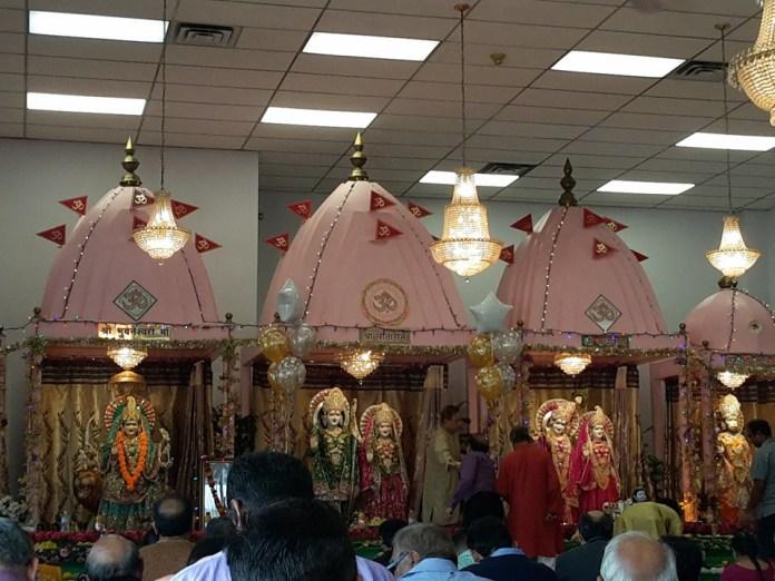 Shri Ram Dham Hindu Temple Ontario - Sanctum Sanctorum of the Hindu Temple at Kitchener, Ontario