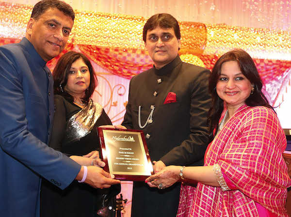 M.A.Faiz member of board of Governors and Treasurer HPS Society Hyderabad being honored by HCA president Hussain Baqueri