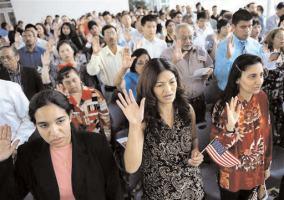 New Immigrants pledge allegiance