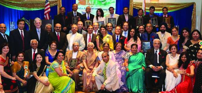 The organizers and the honorees of India Association of long Island - IALI