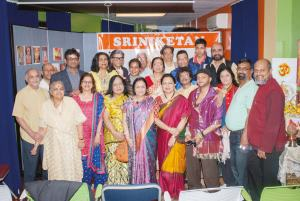 Patrons and artists with Purnima Desai