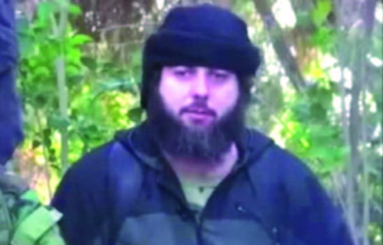 Akhmed Chataev appeared in a three-minute video alongside notorious Islamist militant, Abu Jihad. (Isis video screenshot)