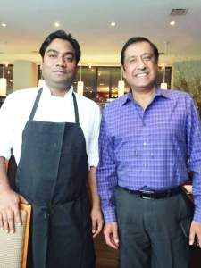Chef Dheeraj Tomar (left) with Rajesh Bhardwaj, CEO of Junoon, one of the top Indian restaurants in New York