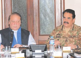 In Pakistan, it is Nawaz Sharif versus Raheel Sharif