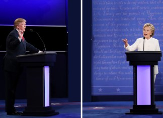 """I will tell you at that time. I will keep you in suspense,"" Trump said in the primetime debate that lasted for over 90 minutes, reiterating that the current elections are rigged."