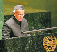 64th session of Bhagat Singh Koshiyari, Member of Parliament, addresses the 64th session of the UN General Assembly on Thursday night.