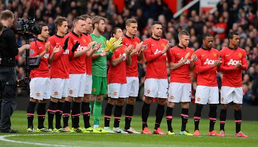 Tributes to Nelson Mandela at Manchester United