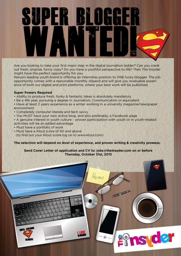Super Blogger Wanted