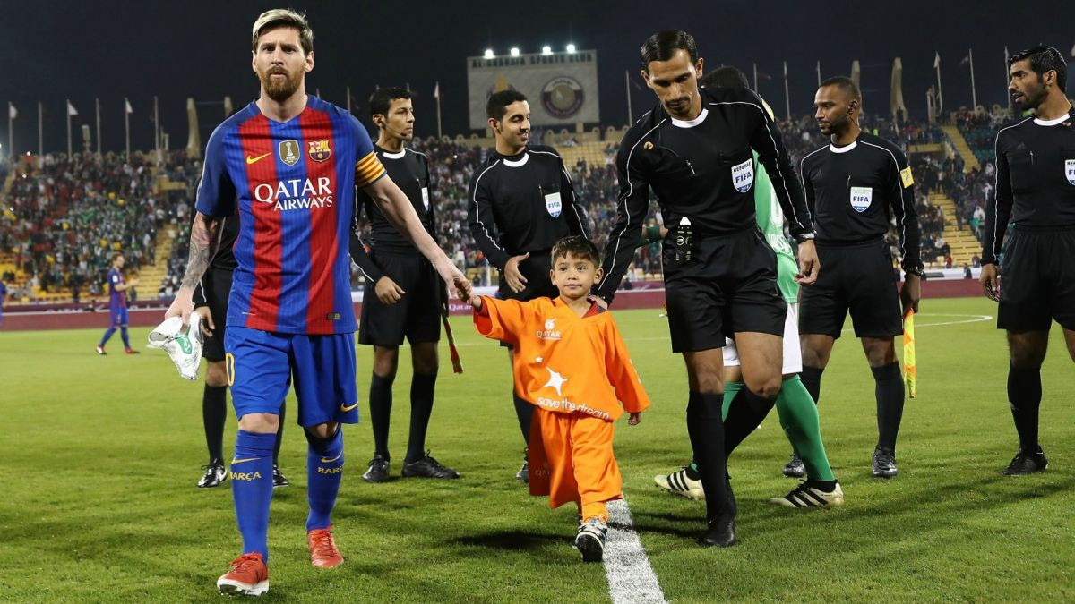 It's a dream come true as Afghan 'Messi boy' meets idol Messi