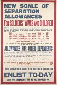 A recruiting notice advertising the benefits of 'separation pay'.