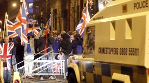 Rioting in Belfast in December 2012.