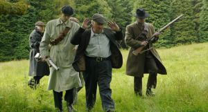 A reenactment from the controversial tv programme 'In the Name of The Republic'. Image TV3