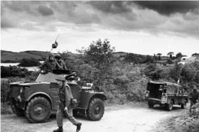 Irish Army soldiers near the border in 1969