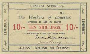 Money produced by the Limerick Soviet in 1919.