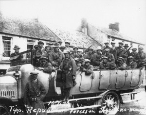 An anti-Treaty IRA motorised column in Tipperary.