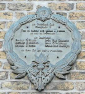 A memorial on 144 Pearse Street to the 4 members of B Company IRA Dublin 3rd battalion killed in the War of Independence, including the two killed on March 14, 1921. (Courtesy of the Irish War memorials website).