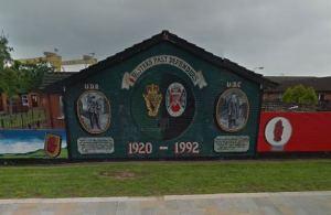 Loyalist mural in Belfast.