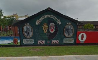 Loyalist mural in Belfast.