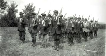 Volunteers drill before the 1916 Rising.