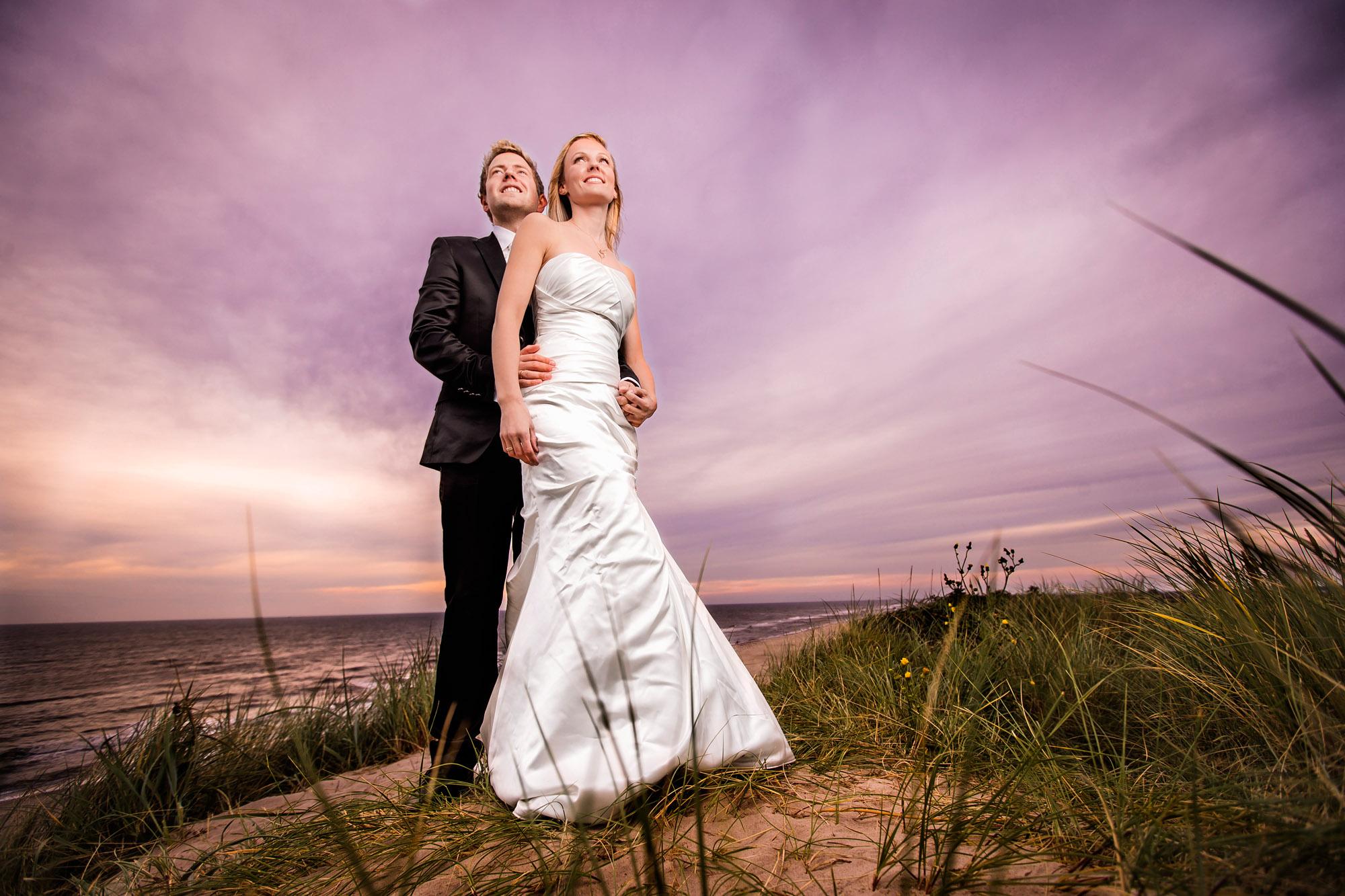 Bryllup ved Vesterhavet i Søndervig ved Ringkøbing