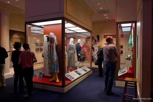 Nancy Reagan exhibits - wardrobe