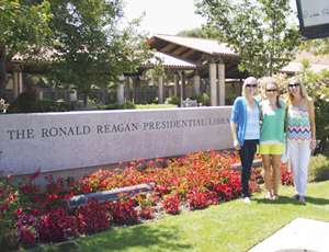 reagan library with candy + hadley