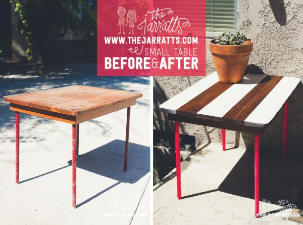thejarratts.com striped table - before & after