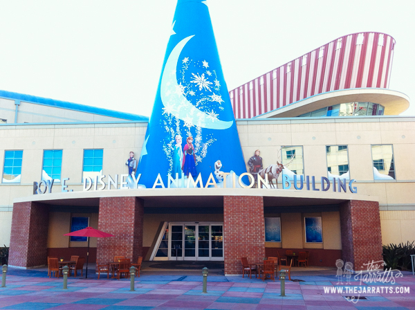 Disney Animation decorated the building with Frozen characters--go see Frozen in November!