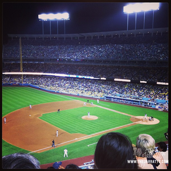 Last Friday night was Episcopal night at Dodger Stadium, so we went to watch some ball.