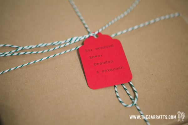 Christmas package detail | thejarratts.com