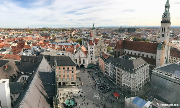 View from the tower in the Rathaus