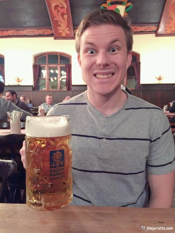 Augustiner bier by the liter!