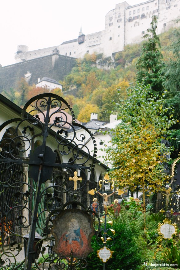 St. Peter's cemetery and catacombs beneath the Festungsberg