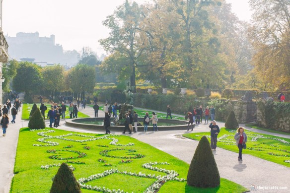Our tour (and several others) ended back at the Mirabell Gardens