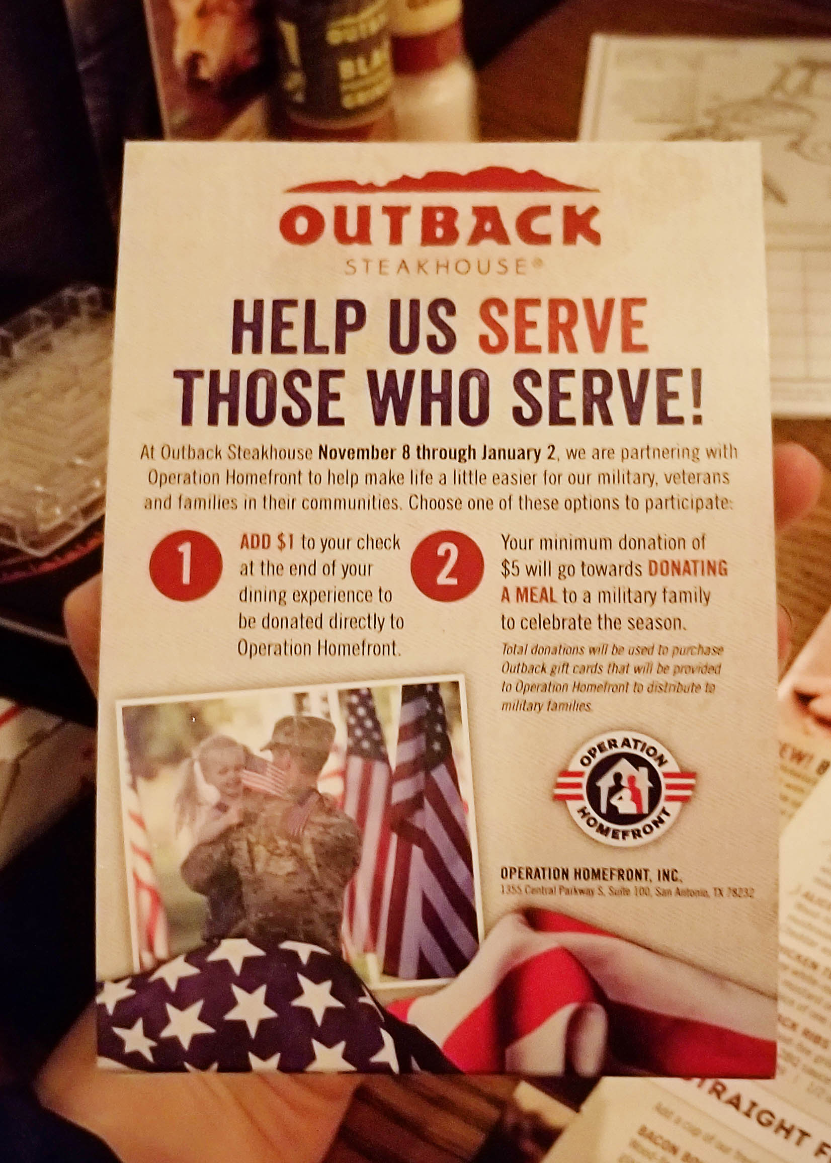 Sturdy For More Information On Outback Visit M On Celebrating Holidays At Outback Steakhouse Outback To Go Gandy Outback To Go Promo Code nice food Outback To Go
