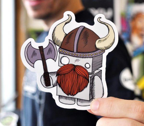 DieCut Stickers – Power To The Makers