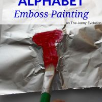Alphabet Emboss Painting Activities for Kids