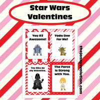 Star Wars Valentine Cards FREE Printable