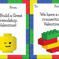 Lego Valentines Free Printables