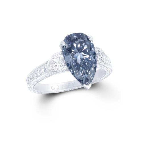Medium Crop Of Blue Diamond Ring