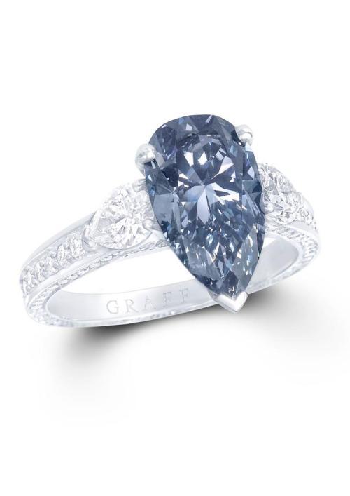 Medium Of Blue Diamond Ring