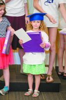Ariella Madgy of Huntington Woods at Sunday school graduation.