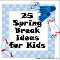 25 Spring Break Ideas for Kids