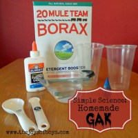Simple Science: Homemade Gak Recipe