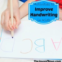 Activities to Improve Handwriting